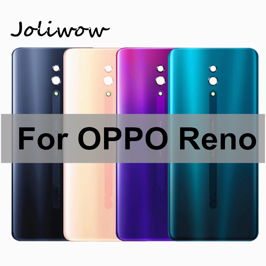 6.4 Inch For OPPO Reno Back Housing Back Cover Glass Battery Door Case Replacement Parts For Oppo Reno Battery Cover