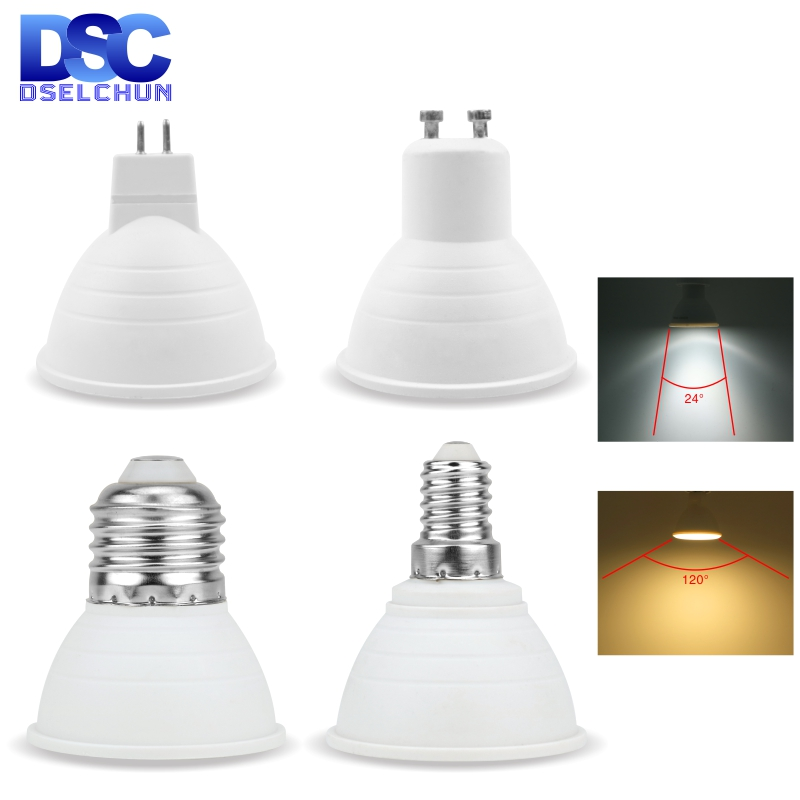 Lampada LED Bulb MR16 GU5.3 GU10 E27 E14 6W 220V 230V 240V Bombillas LED Lamp Spotlight Lampara LED Spot Light 24/120 Degree