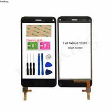 5.0'' Mobile Touch Screen For Venus 5580 Front Glass Touch Screen Sensor Lens Digitizer Panel Sensor Adhesive
