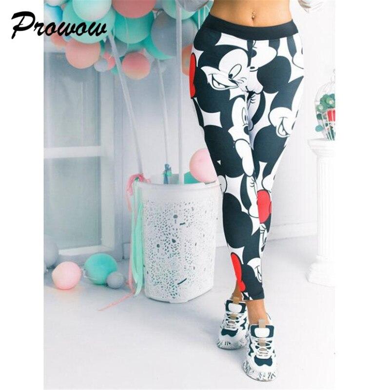 Women Mickey Leggings Cartoon Stretchy Fitness Gym Leggings Female Mickey Women Leggings Ladies Pants For Women Sweatpants|Leggings| - AliExpress