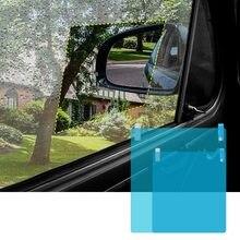 2 adet/takım araba yan pencere koruyucu Film Anti sis membran Anti parlama önleyici su geçirmez yağmur geçirmez araba Sticker şeffaf Film