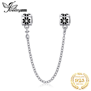 Image 1 - JewelryPalace Safety Chain 925 Sterling Silver Beads Charms Silver 925 Original For Bracelet Silver 925 original Jewelry Making