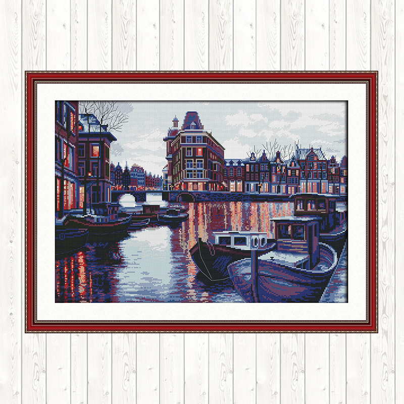 Harbour 11CT 14CT Cross Stitch Set Wall Home Decor DMC Floss Kit Embroidery DIY Handmade Needlework Package Cross Stitch Kits Package    - AliExpress