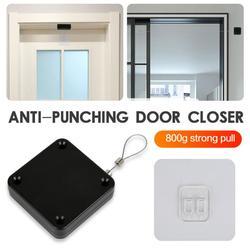 800G Multifunctional Auto Door Closer Punch-free Door Closer Self Pull Line Easy To Install