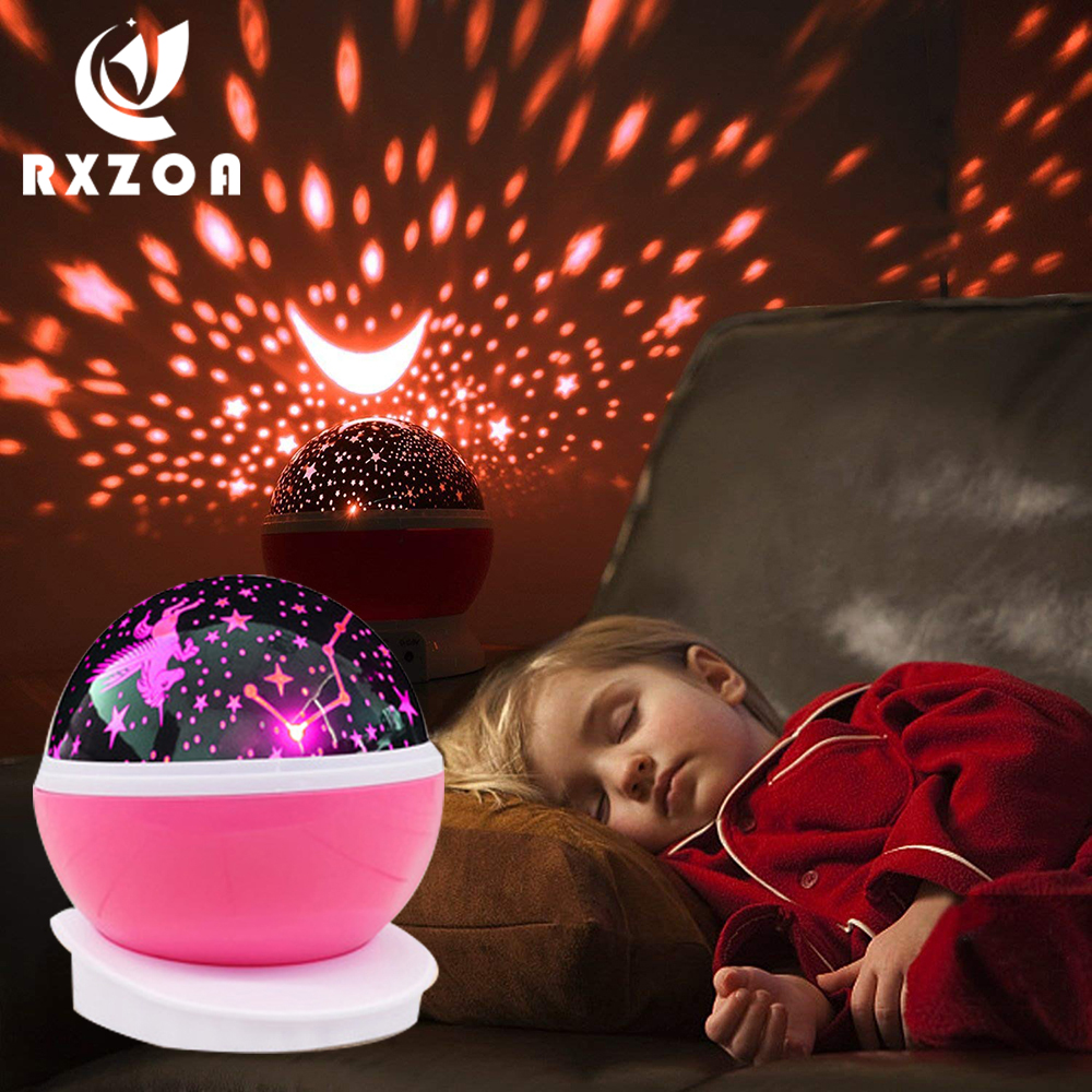 Creative Novelty Luminous Toys Romantic Starry Sky LED Night Light Projector Battery USB Night Light Birthday Toys For Children