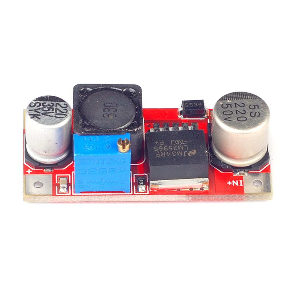 Lm2596S-Adj Dc-Dc Ultra-Small Adjustable Reduced Voltage Module Red Board Adjustable Step-Down Board Module