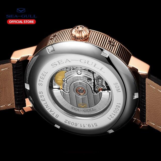 Seagull relógio automático masculino mecânico automático da fase da lua relógios dia data homem relógio 2019 designer 819.11.6092 2