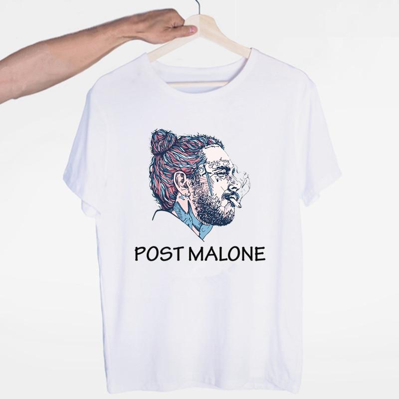 Singer Post Malone T Shirt Man Fashion Hip Hop Summer T Shirt Post Malone Print Boy Short Sleeve O-Neck Top