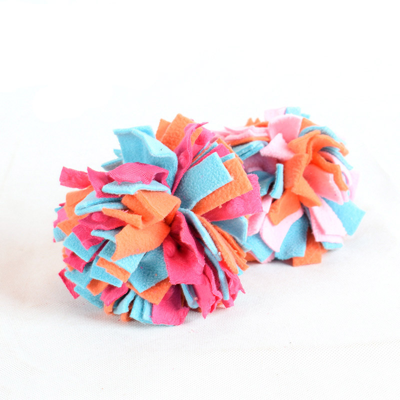 Dog toys Cloth Strap Ball Toy for Dogs Colorful nteractive Pet Toy For <font><b>Boredom</b></font> Bite-resistant Chew Toy image