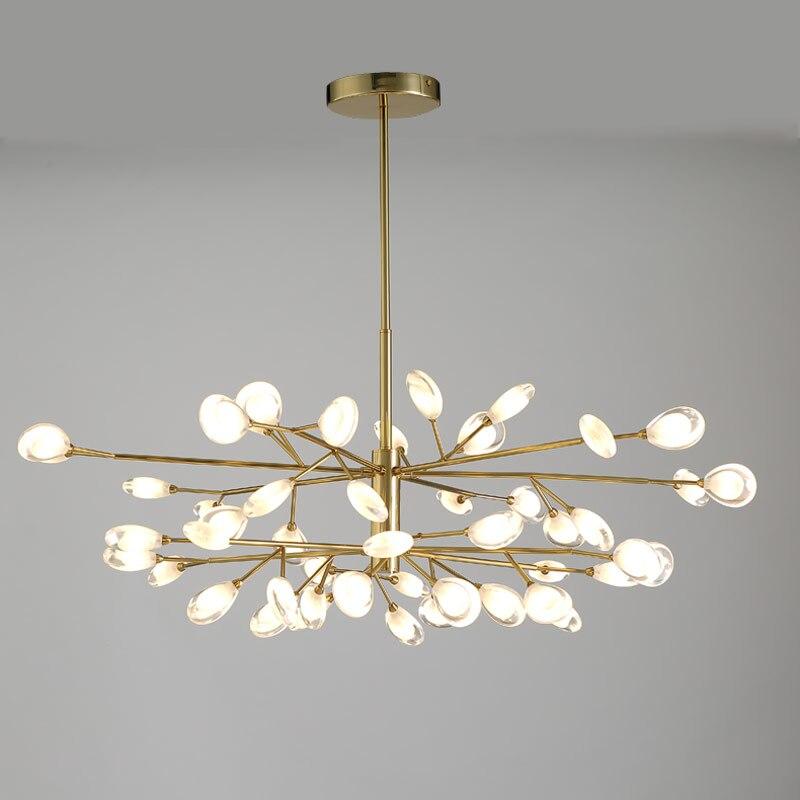 Doprowadził akrylowe wisiorek światła Nordic Design salon sypialnia lampy paw ogon styl nowoczesne lampy wiszące