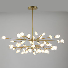 LED Acrylic Pendant Light Nordic Design Living Room Bedroom Fixtures Peacock Tail Style Modern Hanging Lamps