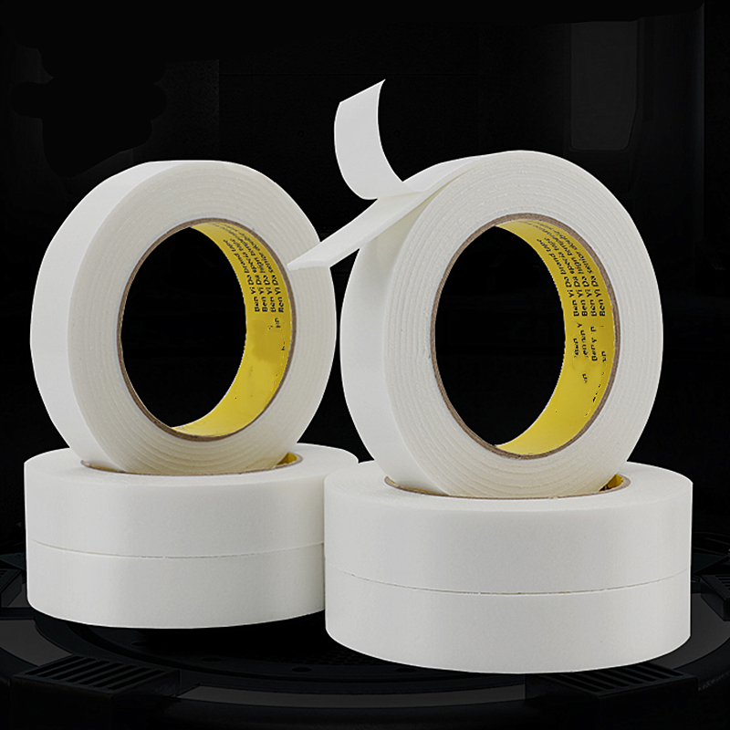 1PC White Sponge Double Sided Acrylic Foam Adhesive Tapes Width 10mm 15mm20mm 30mm