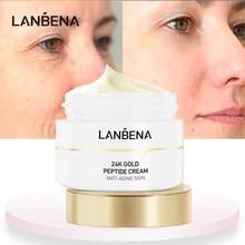 Lanbena peptide rosto creme soro anti envelhecimento rugas removedor facial clareamento da pele hidratar minimizar linhas finas dia creme 50g