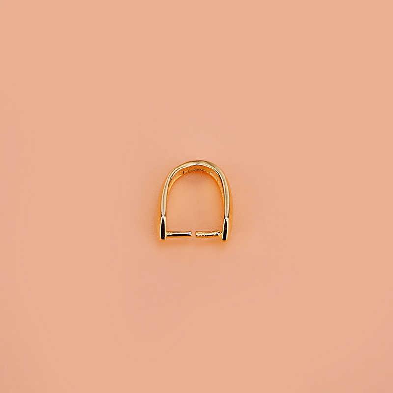S925 srebrny klips klamra bezpieczeństwa klamra wisiorek szmaragdowy miód wosk bursztynowy głowa klamra DIY instrukcja akcesoria zapięcie naszyjnik klamra