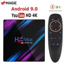 H96 MAX Astuto di Android TV Box 9.0 RK3318 4GB di Ram 32GB 64GB Vocale di Google Youtube 4K bluetooth 2.4G/5G Wifi Box Smart Box