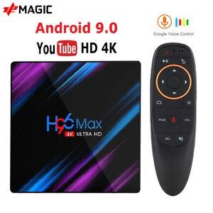 Image 1 - H96 MAX akıllı Android TV kutusu 9.0 RK3318 4GB Ram 32GB 64GB Google ses Youtube 4K bluetooth 2.4G/5G Wifi kutusu akıllı kutu