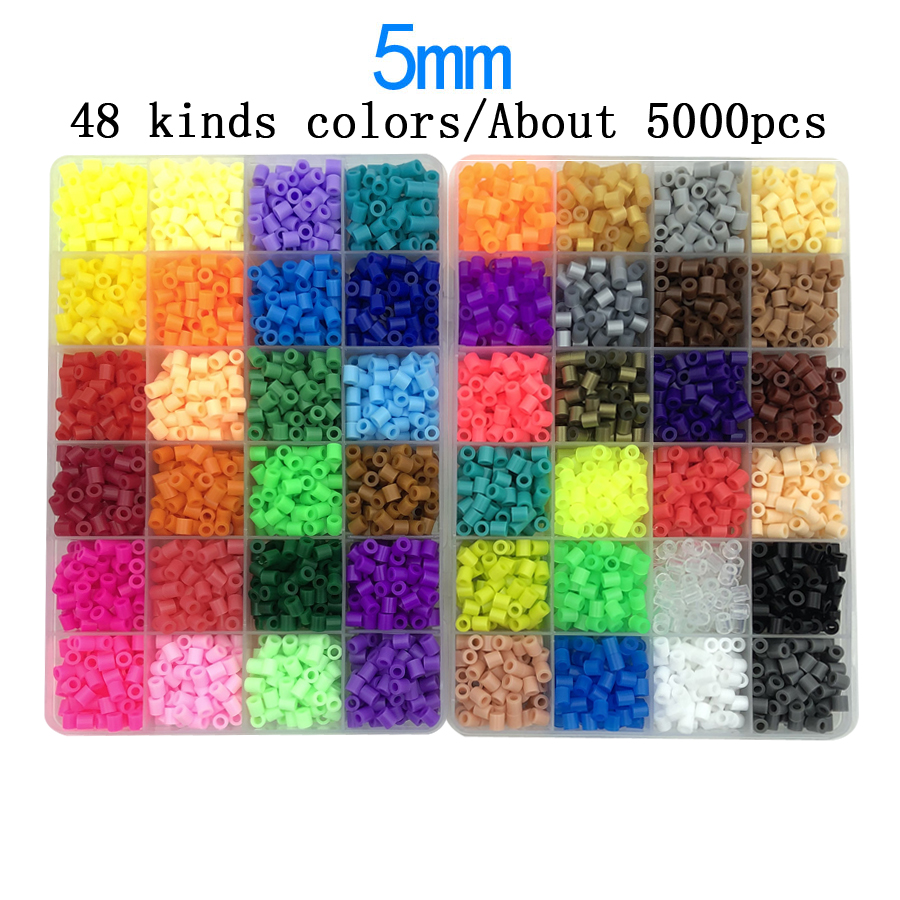 2.6mm/5mm Perler Fuse beads PUPUKOU Iron beads Kit Hama beads 3D Puzzle DIY Toy Kids Creative Handmade Craft Toy Gift(China)