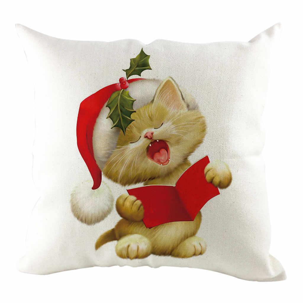 שנה טובה 2019 camiseta המולד מכסה דקורטיבי חג המולד כרית 45x45cm חדש מסיבת ערב ספקי חג המולד 7P