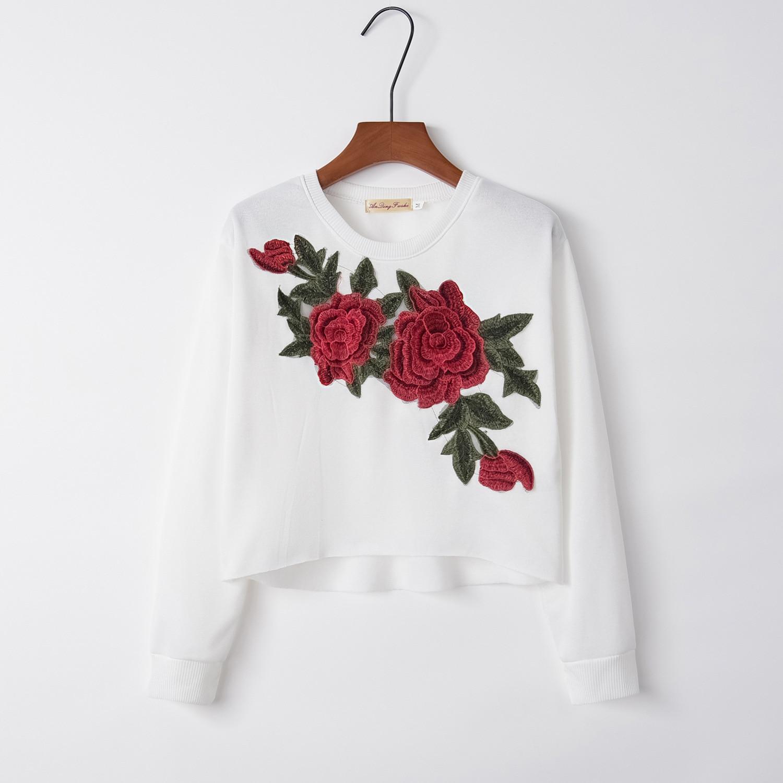 Cross Flower 2020 New Design Hot Sale Hoodies Sweatshirts Women Casual Kawaii Harajuku Sweat Girls European Tops Korean