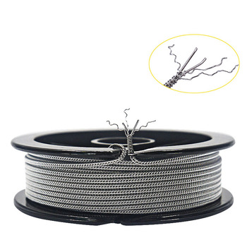 HOT 10feet NI80 SS316L A1 (26GA+32GA)x2+32GA SS Staggered Fused Clapton Wire DIY Wire for RBA RDA RDTA Atomizer Coil цена 2017