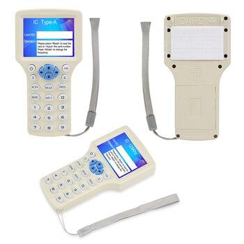 10 English Frequency RFID Copier Duplicator 125KHz Key fob Leitor NFC Writer 13.56MHz Criptografado programador USB UID USB Card Tag Tag 1