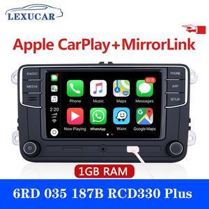 Радиоприемник LEXUCAR RCD330 Plus RCD330G, RCD 330 330G, 6RD 035 187B для VW Golf 5 6 Jetta CC MK6 MK5 Passat B6 B7 Tiguan 187B