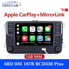 Lexucar rcd330 mais desay carro rádio carplay 1gb ram rcd330g 6rd035187b para vw golf 5 6 jetta cc mk6 mk5 passat b6 b7 tiguan 187b
