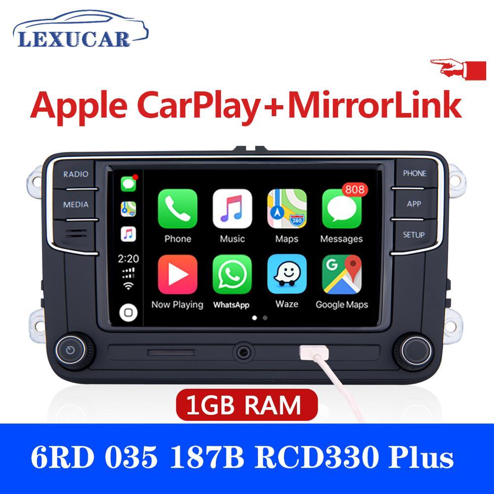 LEXUCAR RCD330 Plus Rádio RCD 330 330G Carplay RCD330G 6RD 035 5 6 187B Para VW Golf Jetta CC MK6 MK5 Passat Tiguan B6 B7 187B