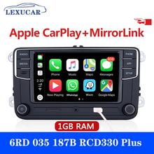 LEXUCAR RCD330 más DS Radio de coche Carplay 1GB RAM RCD330G 6RD035187B para VW Golf 6 Jetta CC MK6 MK5 Passat B6 B7 Tiguan 187B