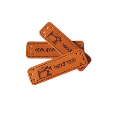 Clothing-Labels Sewing-Machine-Logo Leather-Tags Handwork with for Scarf