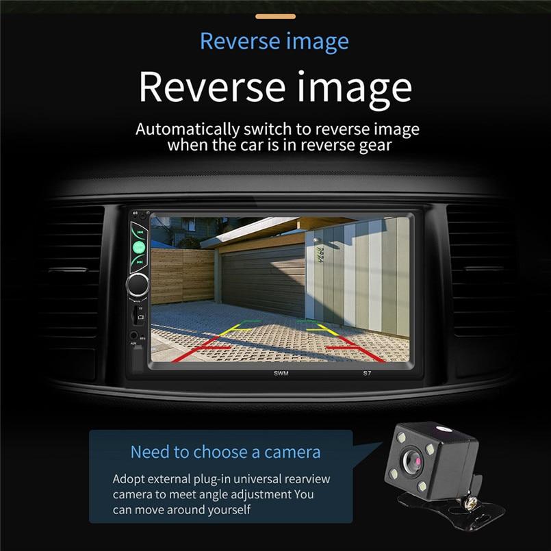 SWM-S7 7 Inch HD Touc-h Big Screen Car BT MP5 Player Car MP3 Card Machine FM With CD Player DVD 50AUG1204