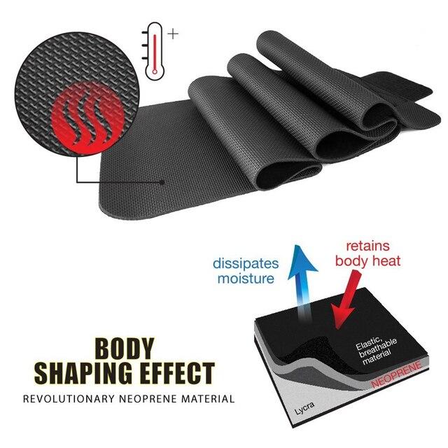 Tcare Neoprene Slimming Lumbar Waist Trimmer Belt Weight Loss Sweat Band Wrap Fat Tummy Stomach Sauna Sweat Belt For Gym Fitness 3