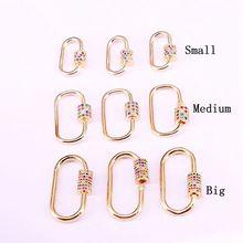 5 pièces, arc en ciel CZ Micro pavé ovale en forme de cristal zircone fermoir mousqueton