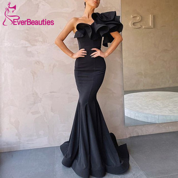 Vestido De Festa Mermaid Black Prom Dresses Long 2020 Satin Evening Party Dresses Vestidos De Gala цена 2017