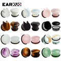 EARKUO Latest Best Quality Glass Cute Car Stone Ear Plugs Gauges Fashion Piercing Body Jewelry Earring Tunnels Stretchers 6-16mm