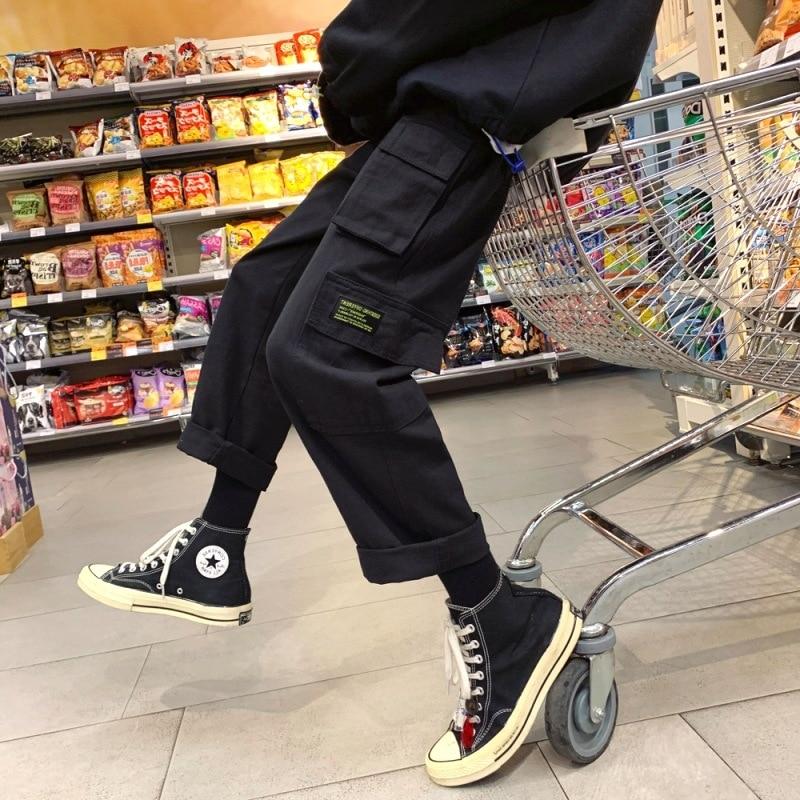 Hong Kong Style Bib Overall Men's Trend Korean-style Online Celebrity Loose Straight Versatile Qing Lv Zhui Sense Wide-Leg Casua
