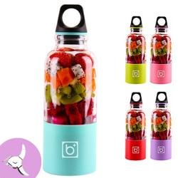 500ml 4 블레이드 휴대용 블렌더 juicer 기계 믹서 전기 미니 usb 푸드 프로세서 juicer 스무디 블렌더 컵 메이커 주스