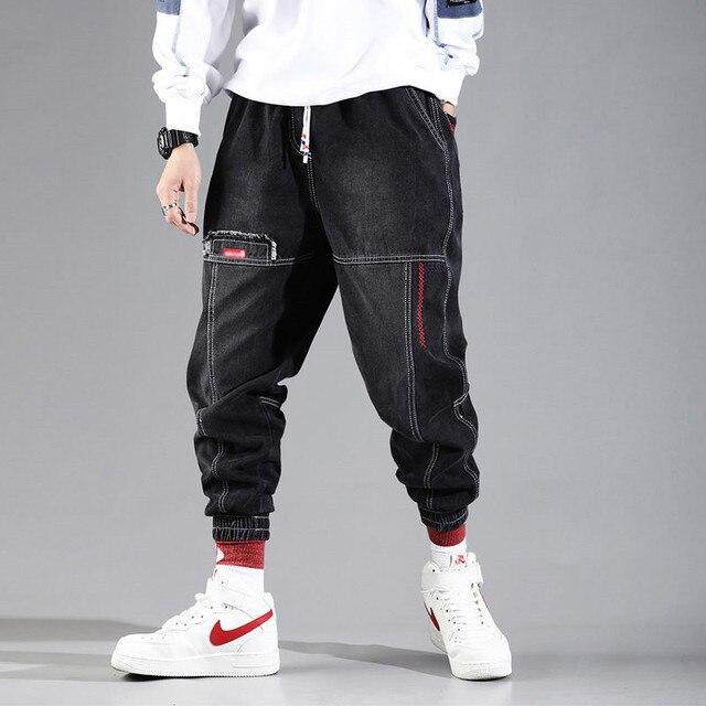 2021 novo streetwear hip hop calças de carga calças de brim dos homens calças de carga elástico harun calças corredores calças no outono e primavera 2