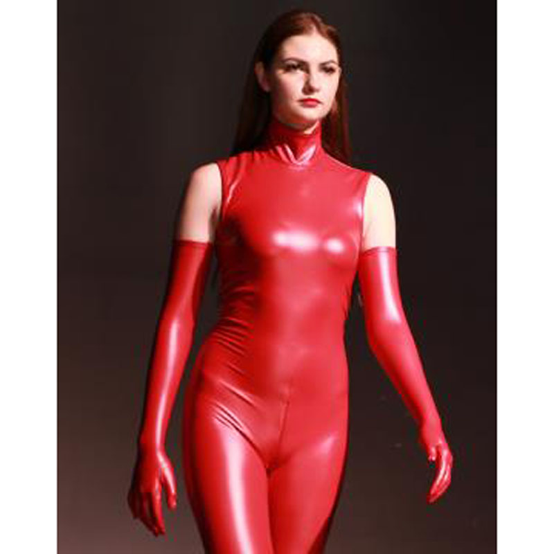 S-XL Plus Size Wetlook PVC Shiny Long Gloves Women Latex PU Leather Handschuhe Guantes Mujer Eldiven Glove Pole Dance Clubwear