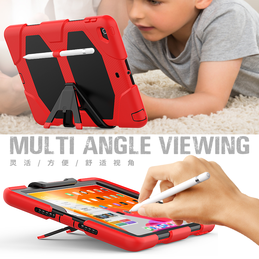 10.2 Heavy Kickstand Kids iPad Duty For Case Silicone Rugged Case PC Armor Shockproof