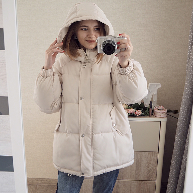 Winter women Parkas coat 2020 casual thicken warm hooded padded jackets Female solid colorful styled outwear snow jacket 3