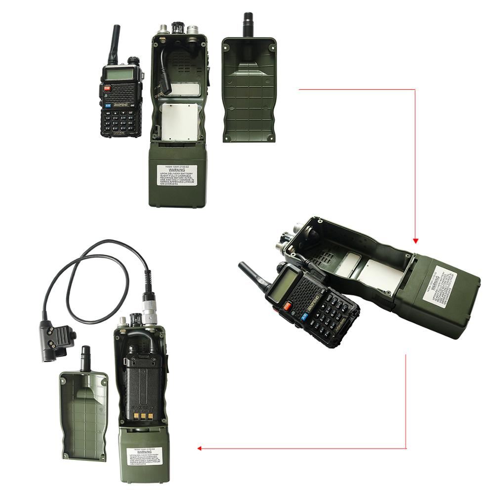 Купить с кэшбэком Tactical AN / PRC-152 Harris Military Radio Communication Case Model Virtual PRC 152 Non-functional Military Interphone Model