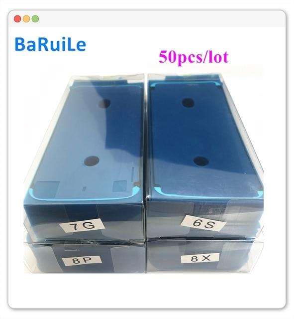BaRuiLe 50 قطعة للماء لاصق ملصقا ل فون 7 6S زائد 8X8 P XS ماكس 3M قبل قطع غولي LCD شاشة إطار الشريط إصلاح أجزاء