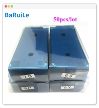 BaRuiLe 50pcs Waterdichte Sticker voor iPhone 7 6S Plus 8X8 P XS Max 3M pre Cut Gule Lcd scherm Frame Tape Reparatie Onderdelen