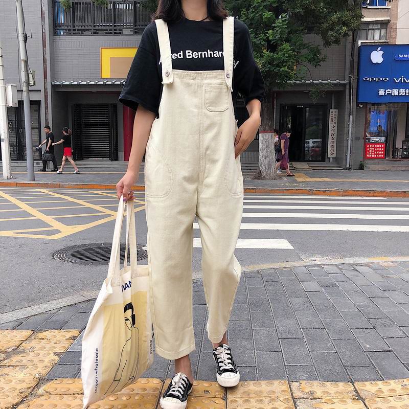 Denim Overalls Women Jeans Boyfriend Ankle White Loose Jeans For Women High Waist Overalls Jeans Pencil Pants Trousers