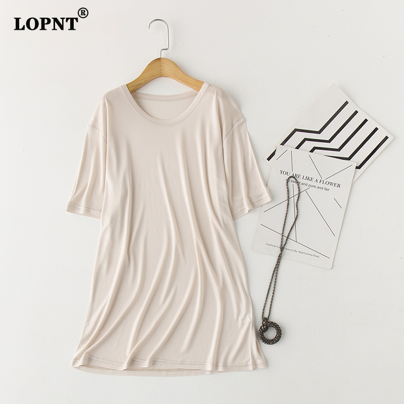 LVFAN Men's 100% Nature Silk Sleep Tops Male Sleepwear Short Sleeve Solid Loose Plus Size  Knitted Camisole