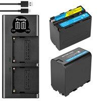 2x7800mAh NP-F960 NP-F970 Batterie mit Led-betriebsanzeige + LED Dual Ladegerät für Sony NP-F550 NP-F770 NP-F750 f960 F970 F950