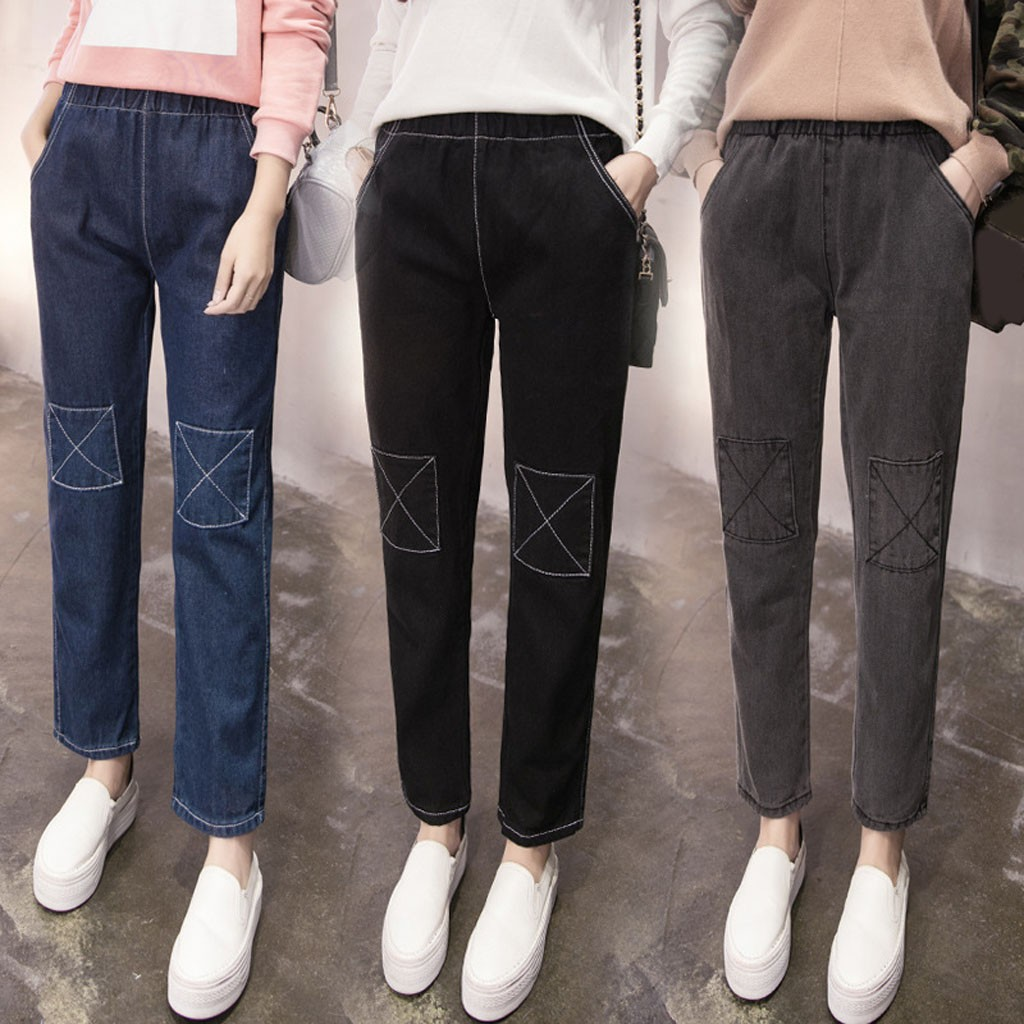 2020 New Fashion High Waist Skinny Jeans Women Pencil Pants Cotton Slim Elastic Womens Long Casual Jeans For Women Jeans#J30