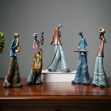 Rock Band Music Art Character Model Statue Creative Living Room Decoration Wine Cabinet Ornaments Figurine Resin