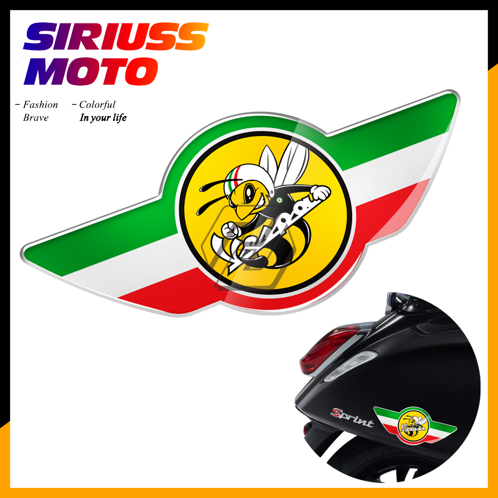 3D Motorcycle Decal Italy Flag Bee Stickers Case For PIAGGIO VESPA GTS150 GTS 250 GTS300 GTS GTV 150 125 250 300 300ie